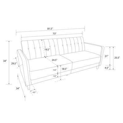 Willa Arlo Interiors Tufted Convertible Sofa Pin Sofas