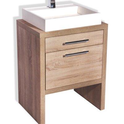 Foundry Select Single Bathroom Vanity Set Natural Oak