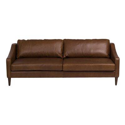 Bungalow Rose Bucoli Leather Sofa