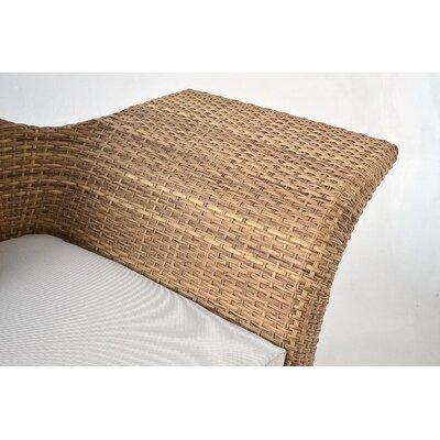 Bloomsbury Market Recamiere Patio Sofa Cushions Frame Light Brown