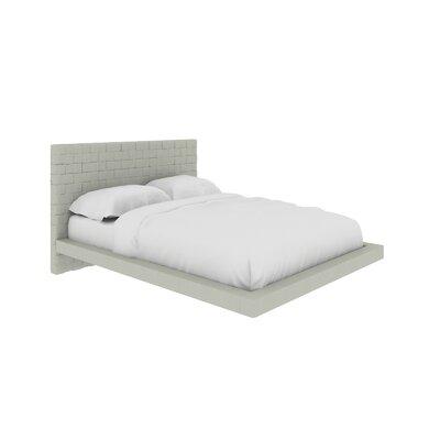 Casabianca Upholstered Platform Bed Full Light Gray