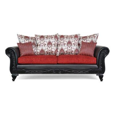 Piedmont Sofa Upholstery Sinbad Ruby Black Ruby