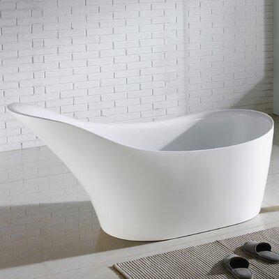 Eviva Free Standing Acrylic Soaking Bathtub