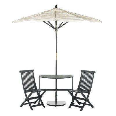 Andover Mills Bistro Set Umbrella Slate Gray