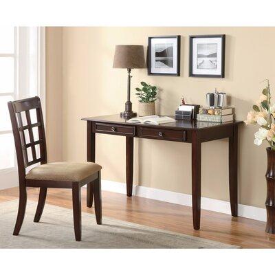 Winston Wooden Desk Set Dark Brown
