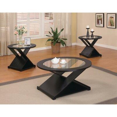 Latitude Run Bind Elegant Rich Coffee Table Set