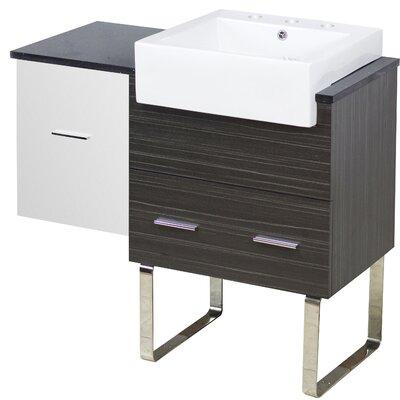 Orren Ellis Single Bathroom Vanity Set Faucet Centers