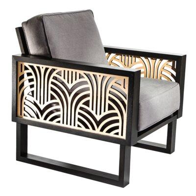 Bayou Breeze Armchair Upholstery Gray Gray Light Brown