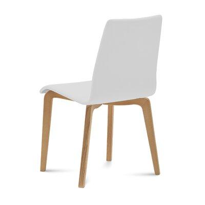 Domitalia Upholstered Dining Chair Upholstery White Leg Yellow