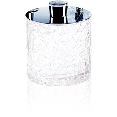 Mercer41 Crackled Glass Round Cotton Ball Swab Tissue Box Cover