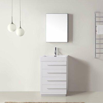 Brayden Studio Bathroom Vanity Set White Top Mirror Single Vanities