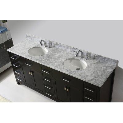 Latitude Run Bathroom Vanity Set Carrara White Mirror Double Vanities