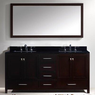Willa Arlo Interiors Bathroom Vanity Set Black Galaxy Mirror Double Vanities