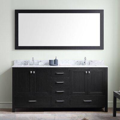 Willa Arlo Interiors Bathroom Vanity Set White Marble Mirror Double Vanities