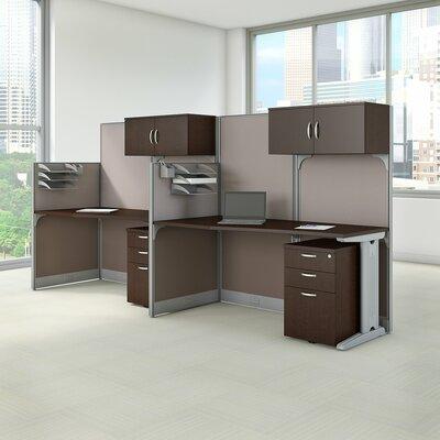 Bush Cubicle Workstations Desk Mocha Cherry