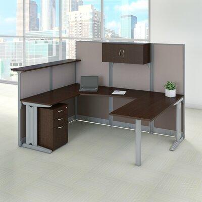 Bush Desk Office Suite Storage Mocha Cherry
