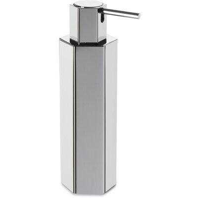 Latitude Run Hexagonal Brass Table Pump Soap Lotion Dispenser Polished Chrome
