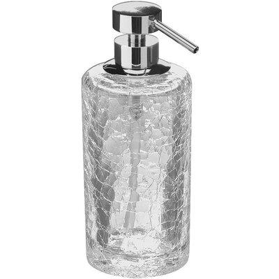 Mercer41 Crackled Glass Table Pump Kitchen Soap Lotion Dispenser