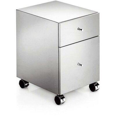 Orren Ellis Runner Standing Steel Mobile Wheel Storage Cabinet
