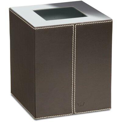 Agm Home Store Box Kenia Square Bath Brass Leather Open Waste Basket