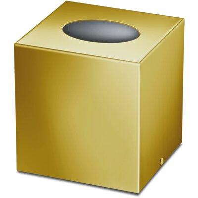 Latitude Run Square Caseroom Tissue Box Cover Gold