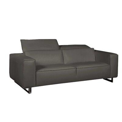 Bellini Leather Sofa Dark Gray