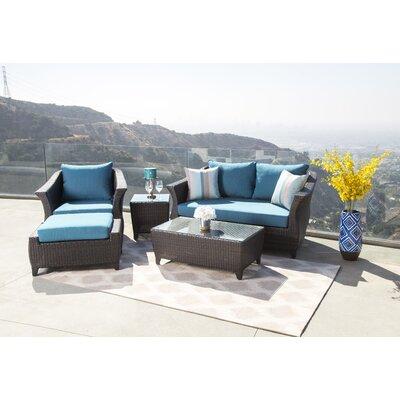 Latitude Run Rattan Sofa Set Cushions