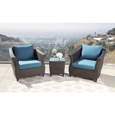 Latitude Run Blue Outdoor Wicker Patio Chair