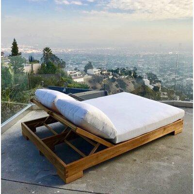 Orren Ellis Teak Double Reclining Chaise Lounge Cushion