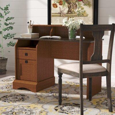 Charlton Home Drawer Secretary Desk Hutch Sunset Autumn Maple