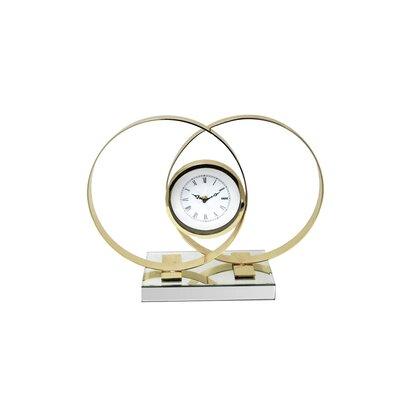 Orren Ellis Looking Metal Tabletop Clock