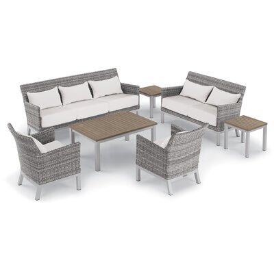 Lounge Rattan Sofa Set Cushions