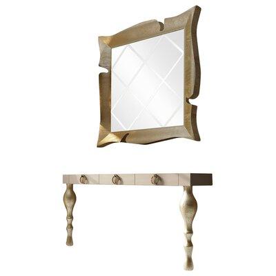 Everly Quinn Console Table Mirror Set Matte
