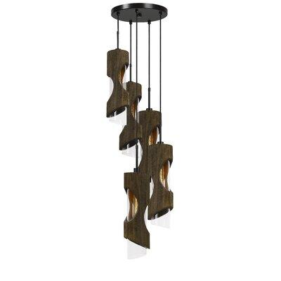 Wrought Studio Wood Light Cluster Pendant