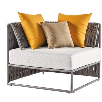 Bungalow Rose Module Patio Chair Cushions Matte White