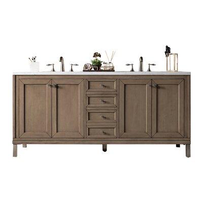 Brayden Studio Double Bathroom Vanity Set Top