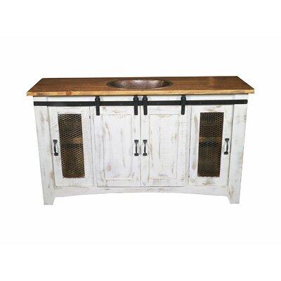 August Grove Single Bathroom Vanity White