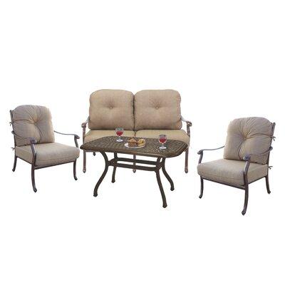 Alcott Hill Sofa Set Cushions Frame Mocha