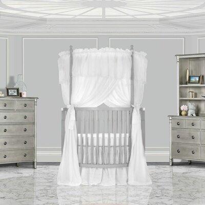 Dream On Me Posh Mini Crib Silver Pearl