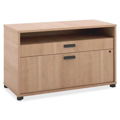 Hon Credenza Drawer Lateral Filing Cabinet Oak