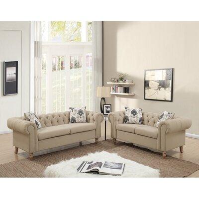 Ophelia Living Room Set Upholstery Sand