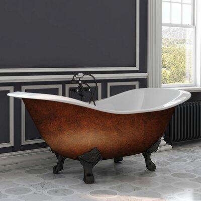Cambridge Plumbing Iron Double Ended Slipper Freestanding Soaking Bathtub