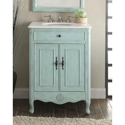 Highland Dunes Single Bathroom Vanity Set Base Light Blue