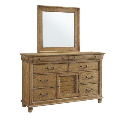 Charlton Home Drawer Combo Dresser Mirror