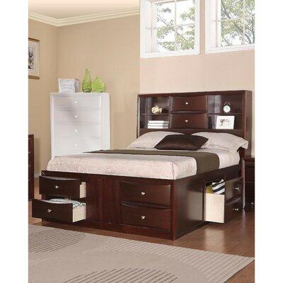 Red Barrel Studio Storage Panel Bed Dark Brown Queen