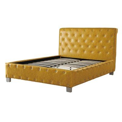 House Of Hampton Polyurethane Upholstered Panel Bed