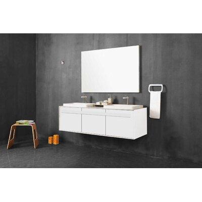 Orren Ellis Bathroom Vanity Set Mirror Glossy White