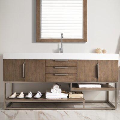 Brayden Studio Single Bathroom Vanity Set Base Latte Oak