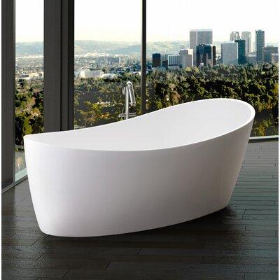 Freestanding Soaking Bathtub Matte White