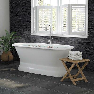 Cambridge Plumbing Ended Pedestal Modern Freestanding Soaking Bathtub
